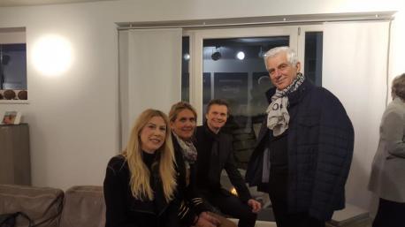 Gäste beim come together mit Pilot und Josef Schroll, Uhren Schmuck Kitzbühel